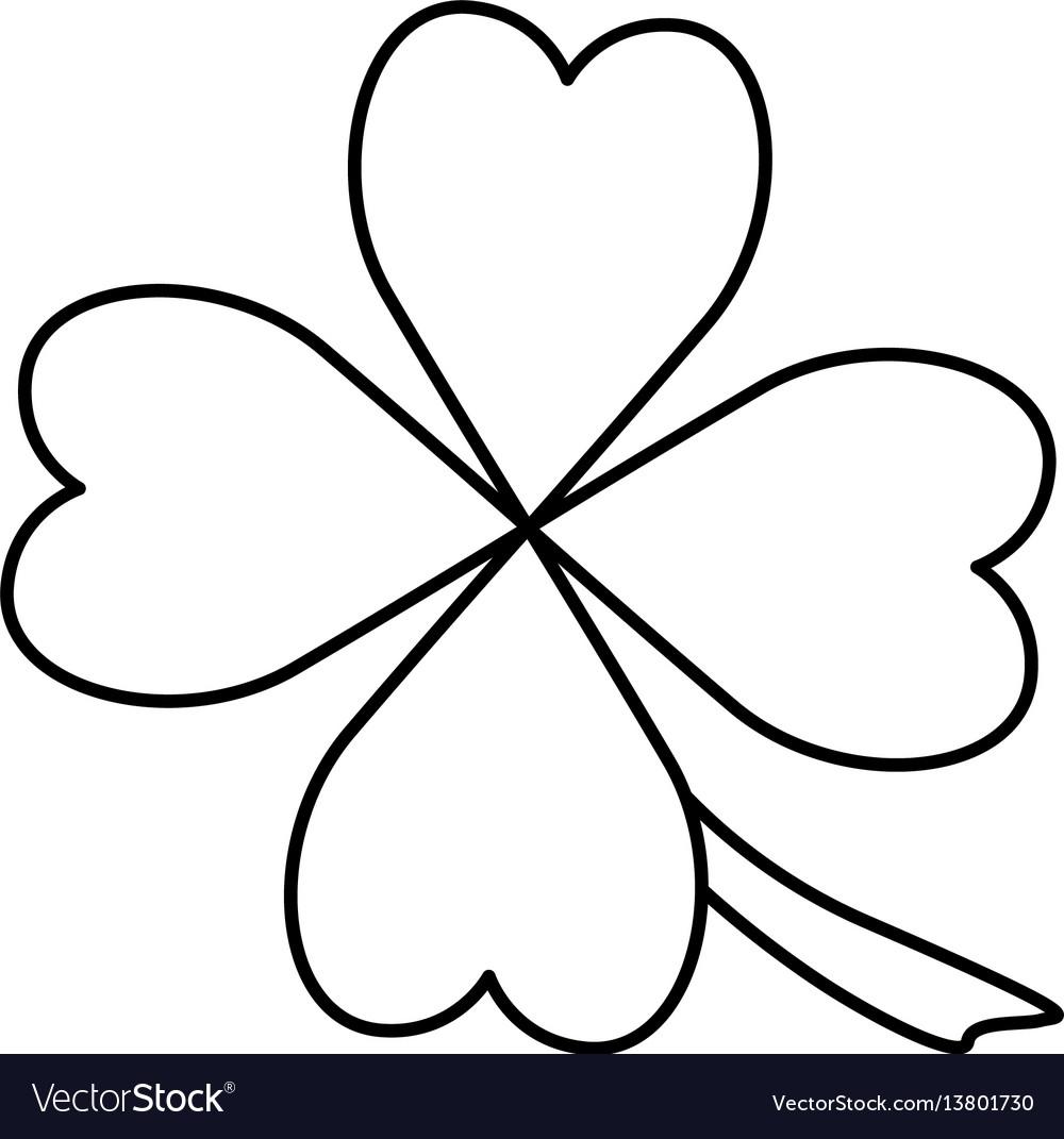 Clover luck leaf