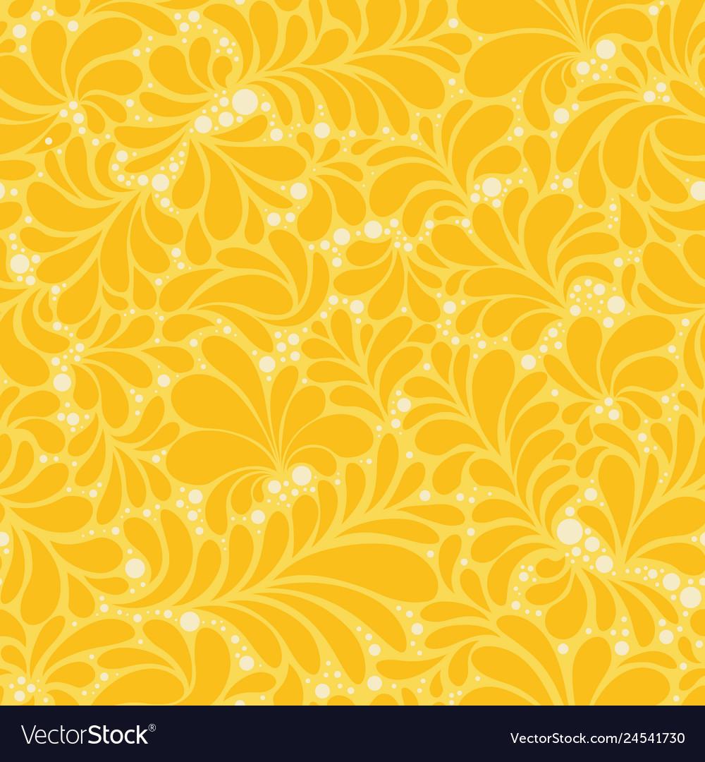 Damask style abstract flat seamless pattern