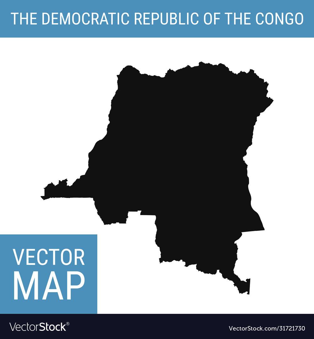 Democratic Republic Congo Map With Royalty Free Vector Image