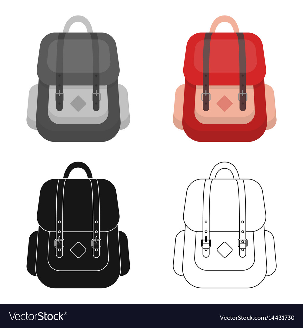 662b21e8f Hipster backpack icon in cartoon style isolated on vector image