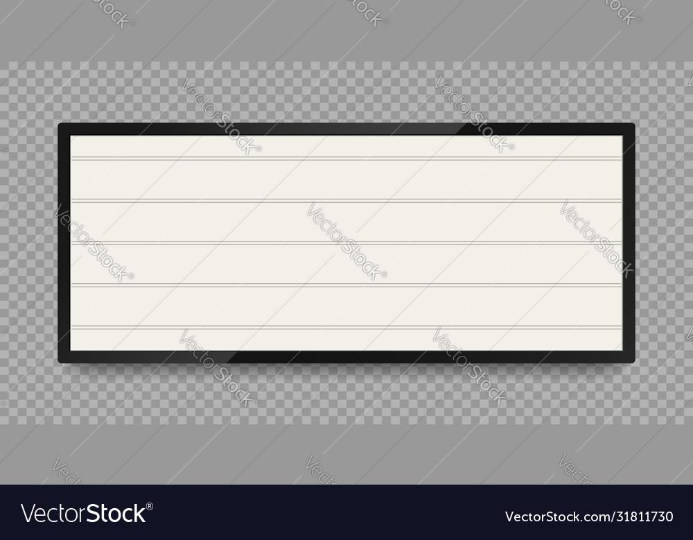 Retro lightbox for advertising or text banner