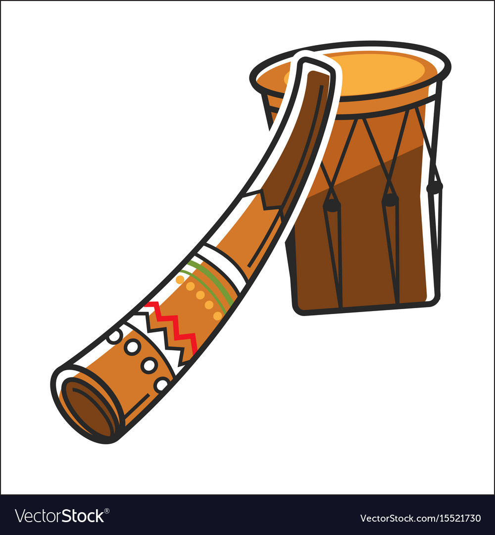 Traditional australian music instruments vector image