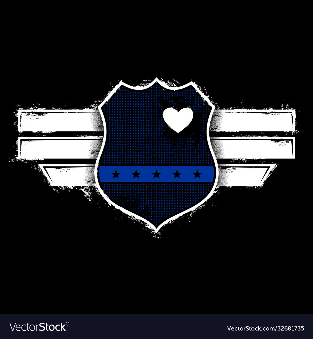 Captain blue officer - thin blue line - police