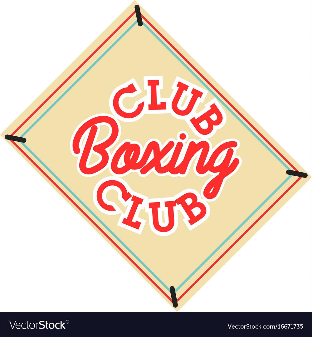 Color vintage boxing club emblem