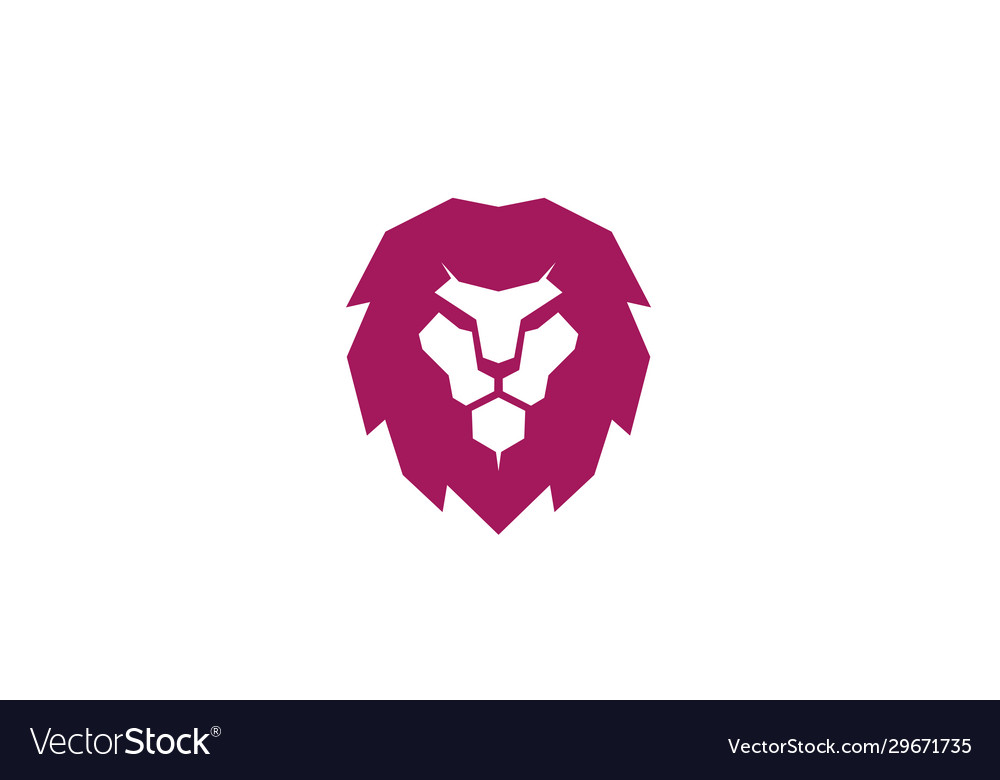 Creative red lion head logo