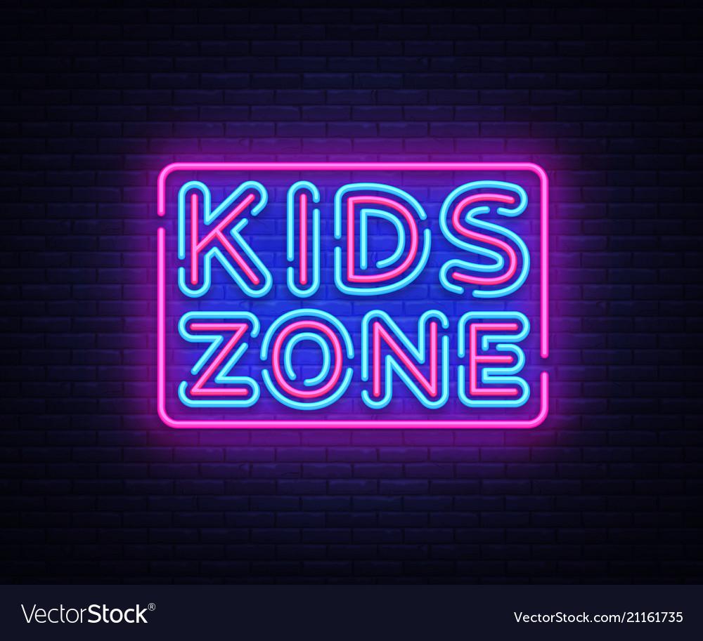 Kids zone neon sign kids zone design