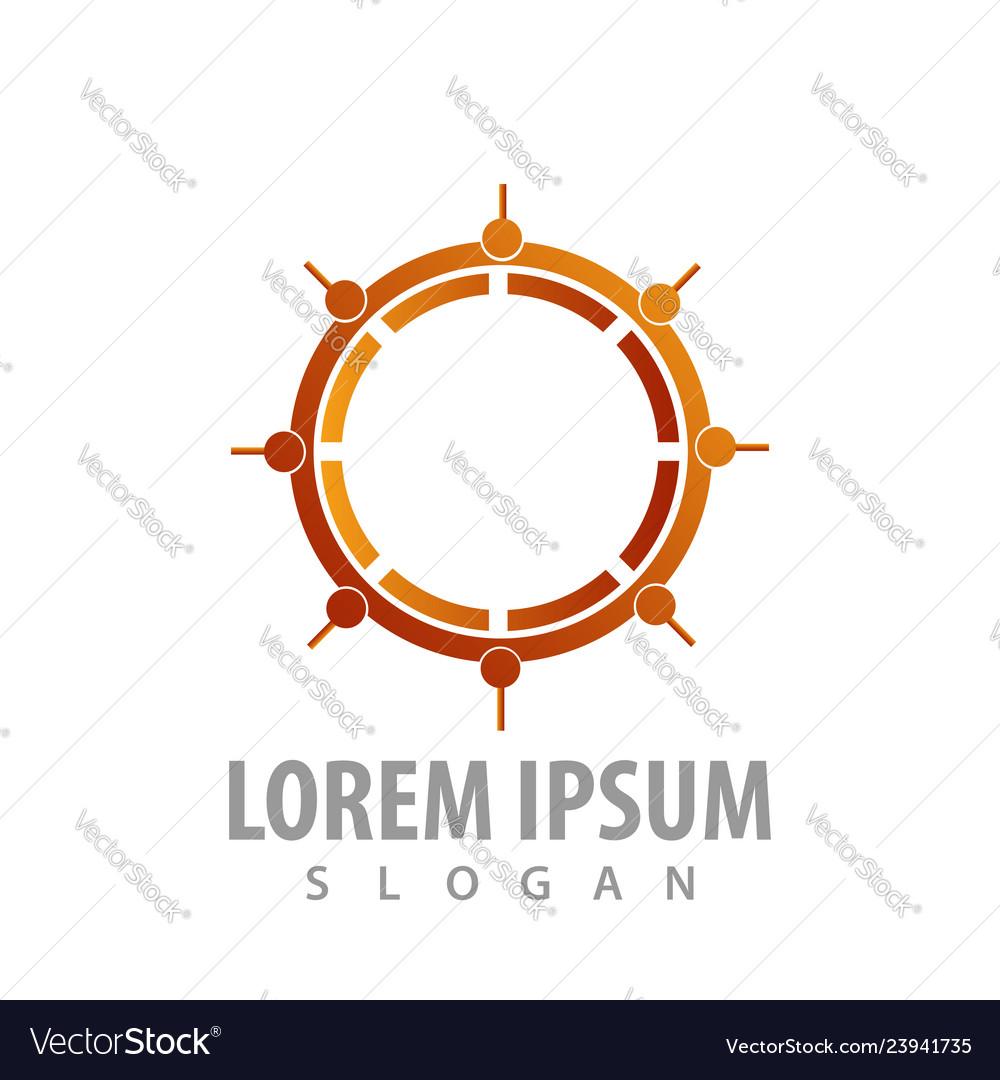 Logo concept design compass symbol graphic