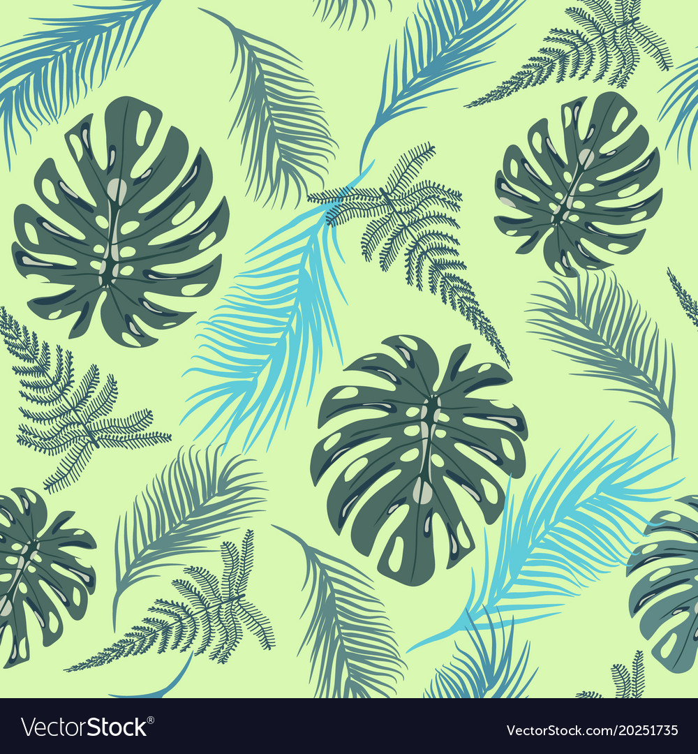 Tropical trendy seamless pattern with exotic