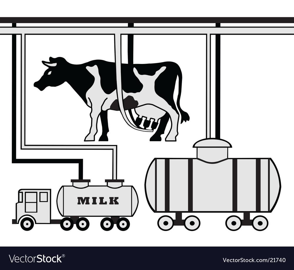 Dairy Farm Plan Vector Image