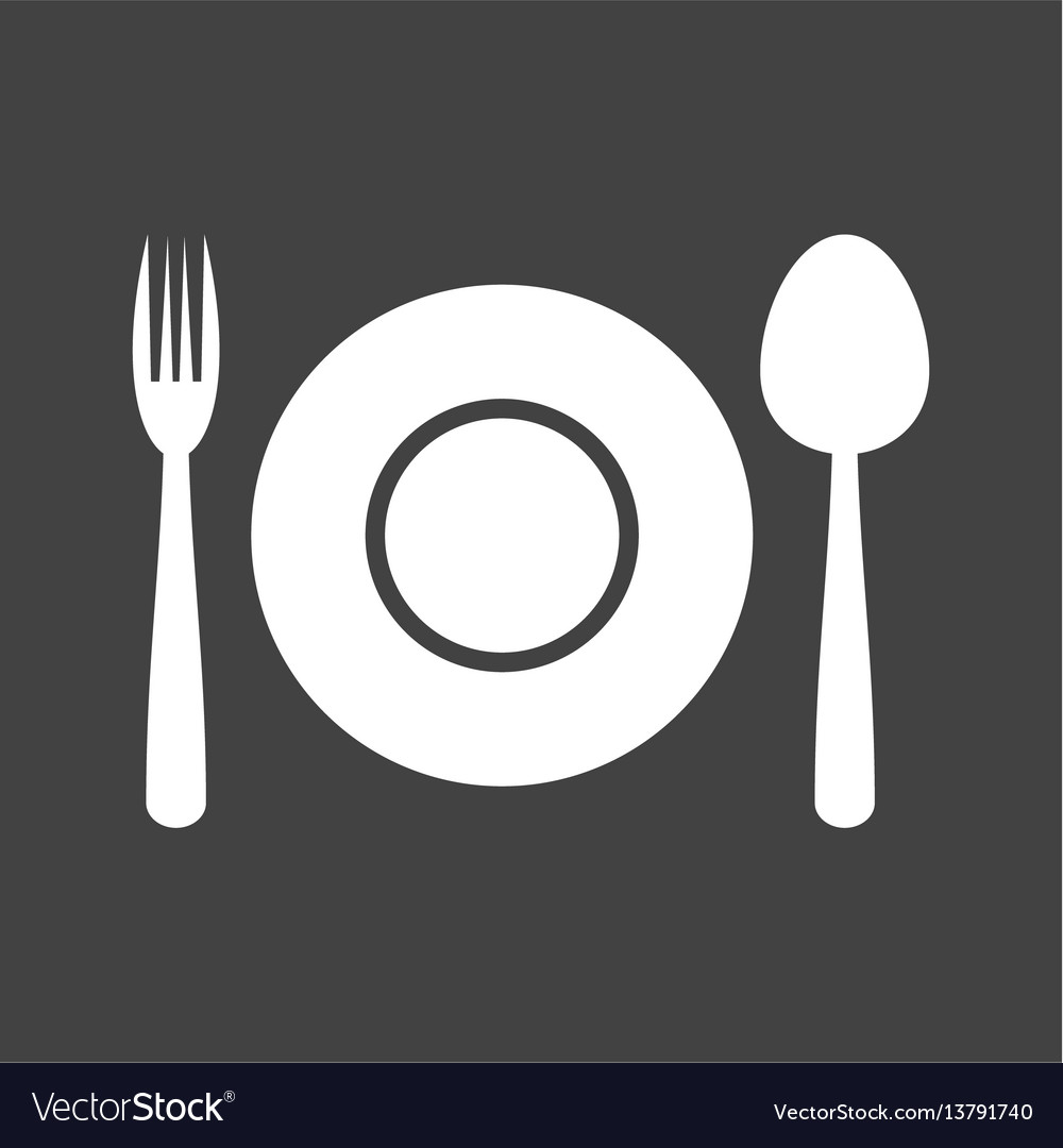 dinner plate royalty free vector image vectorstock