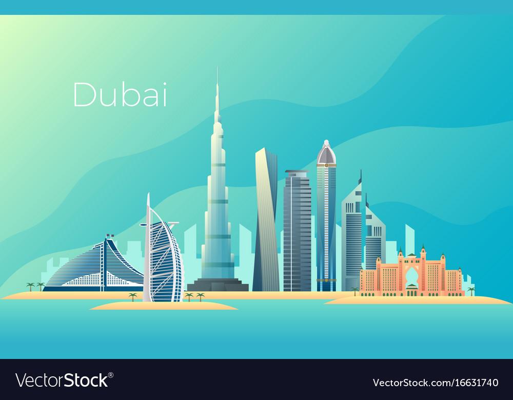 Dubai city landscape emirates architecture