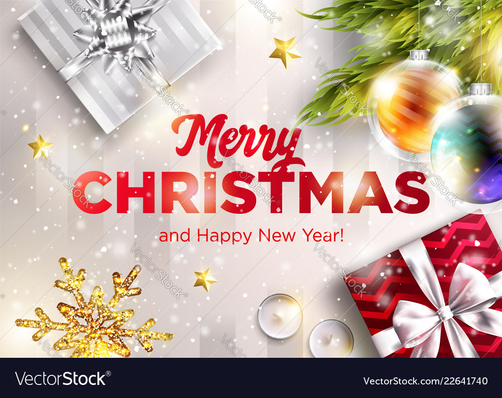 Merry christmas greeting card happy new