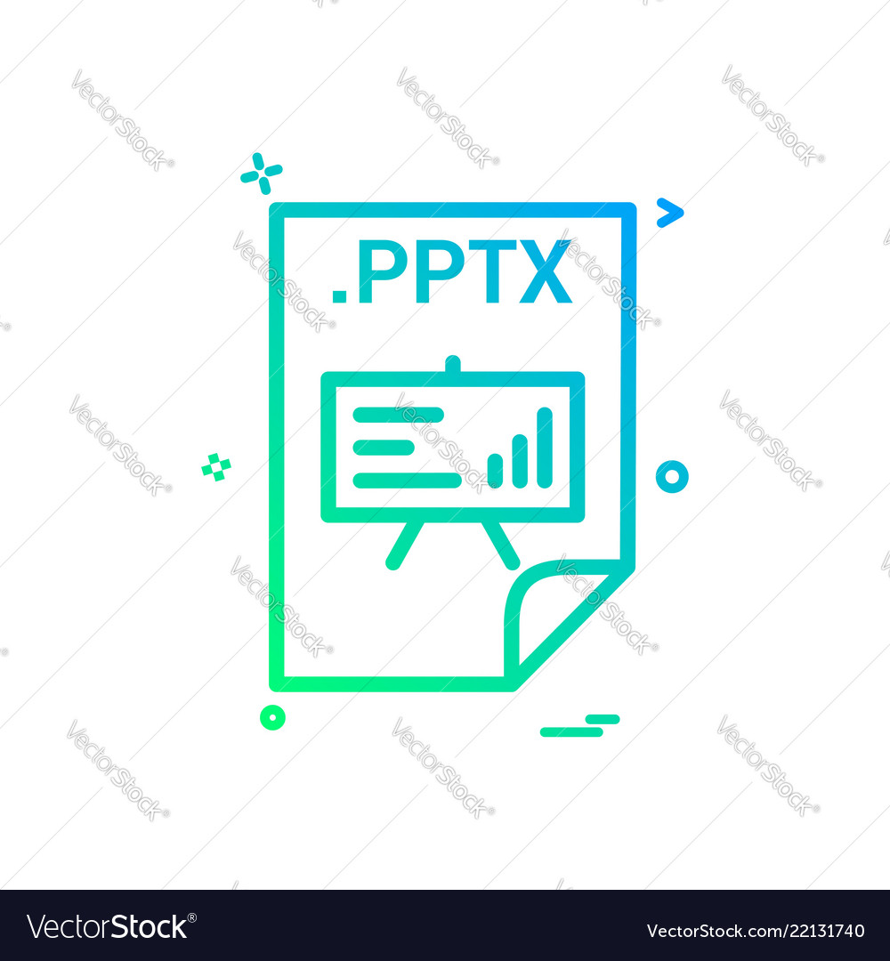 pptx application download file files format icon vector image