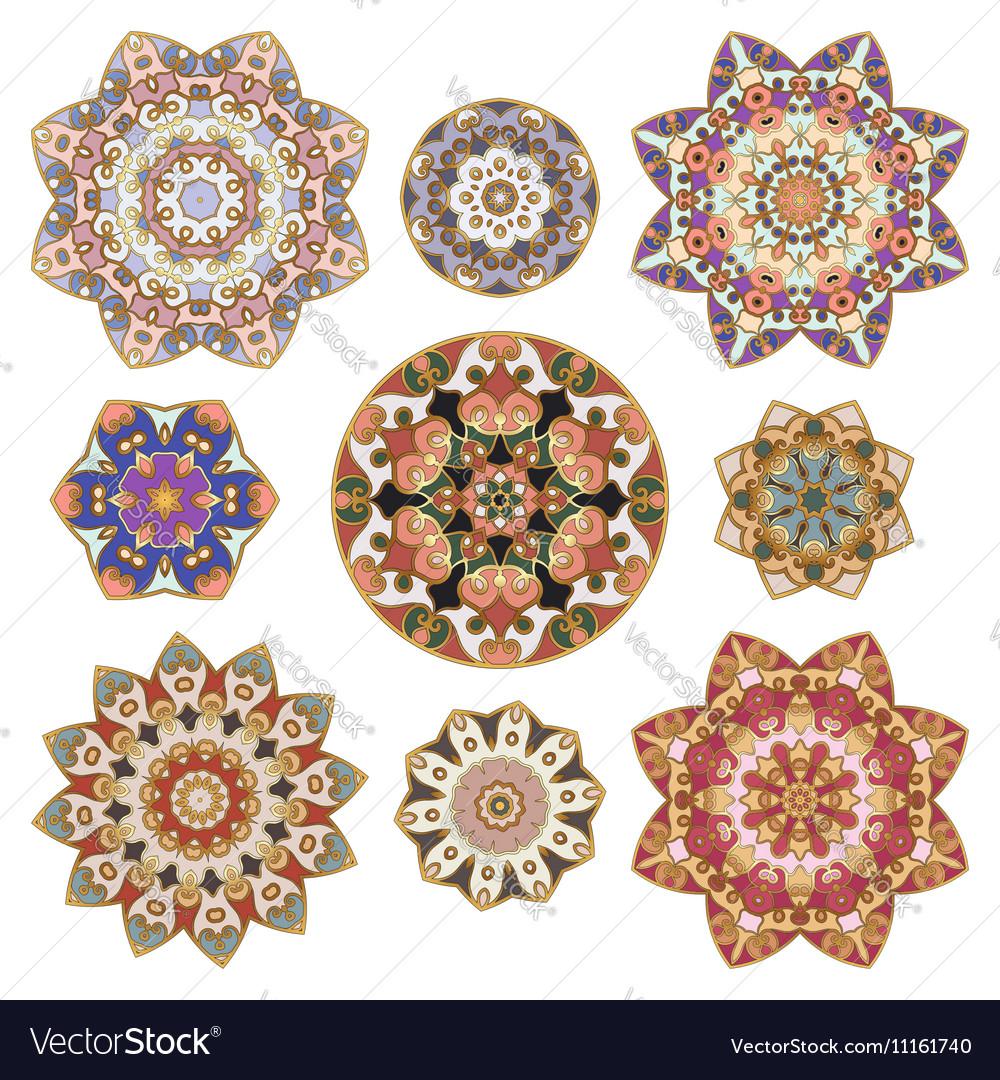 Set of abstract circular element