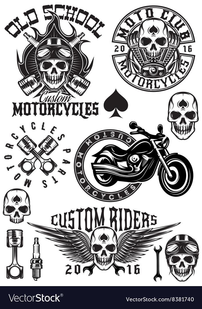 Set of badges logos design elements on vector image