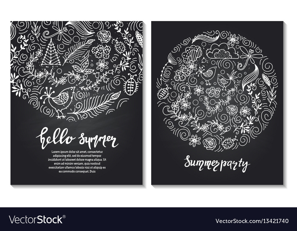 Set of design templates vintage frames and vector image