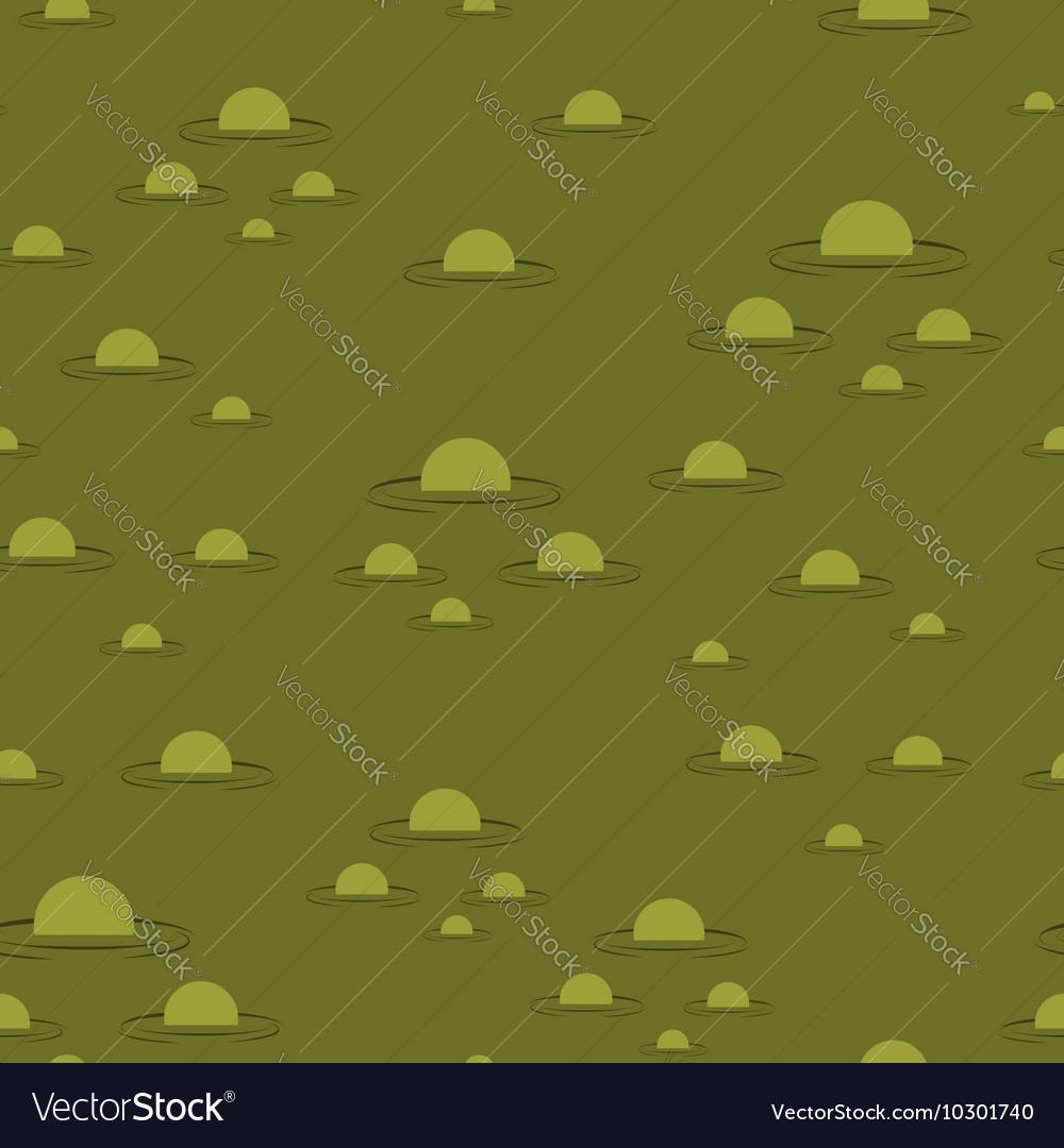 Swamp seamless pattern Big green morass texture