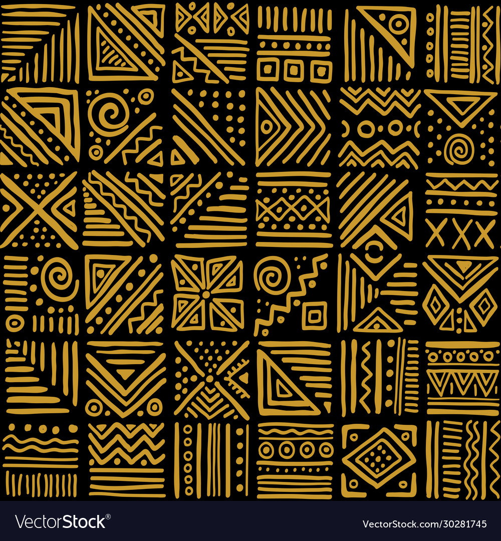 African vibes seamless pattern in ethnic tribal