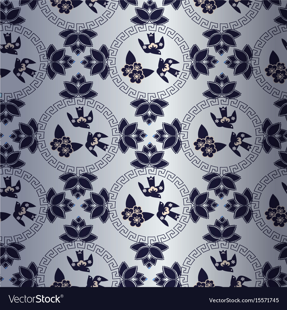 Blue pattern with chinese traditional symbol