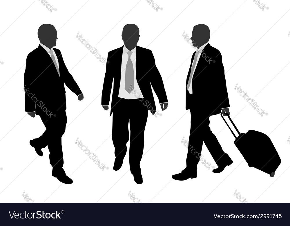 Business people walking vector image