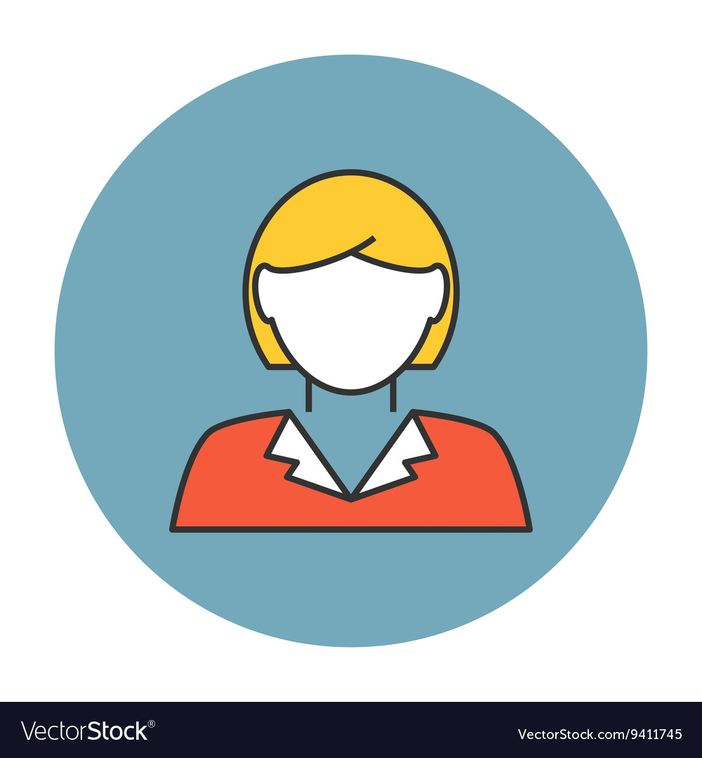 Businesswoman avatar icon vector image