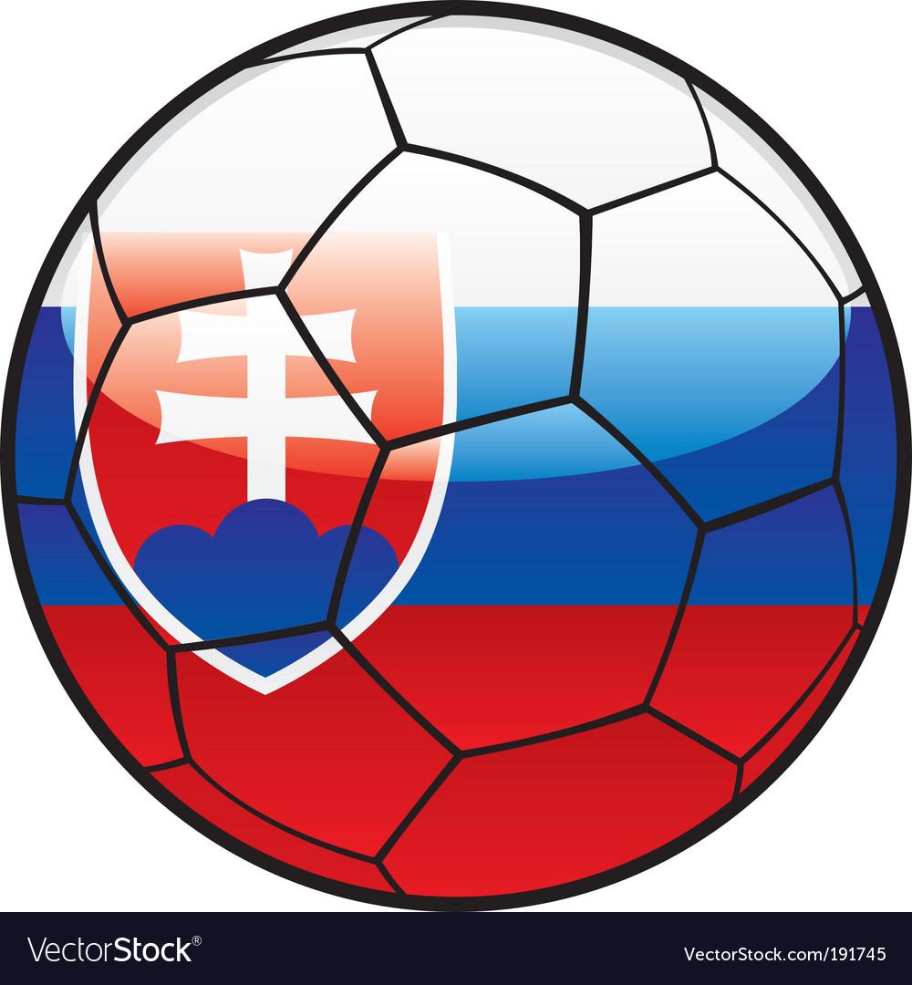 Flag of Slovakia on soccer ball vector image