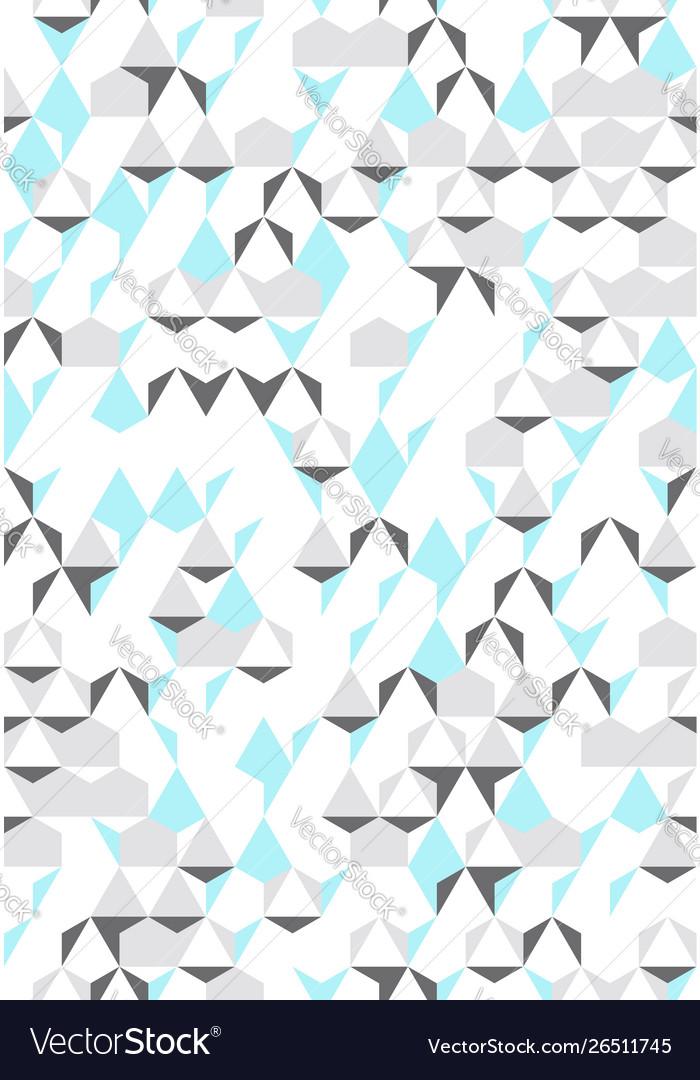 Irregular colorful abstract geometric