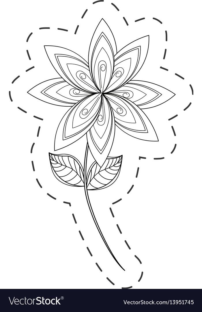 Lilac flower decoration cut line