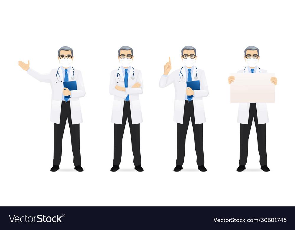 Male doctor set