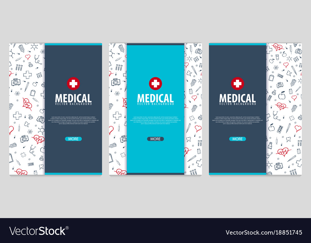 medical brochure design template flyer with vector image