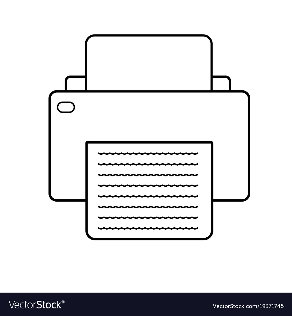 Printer icon on white background printer sign vector image