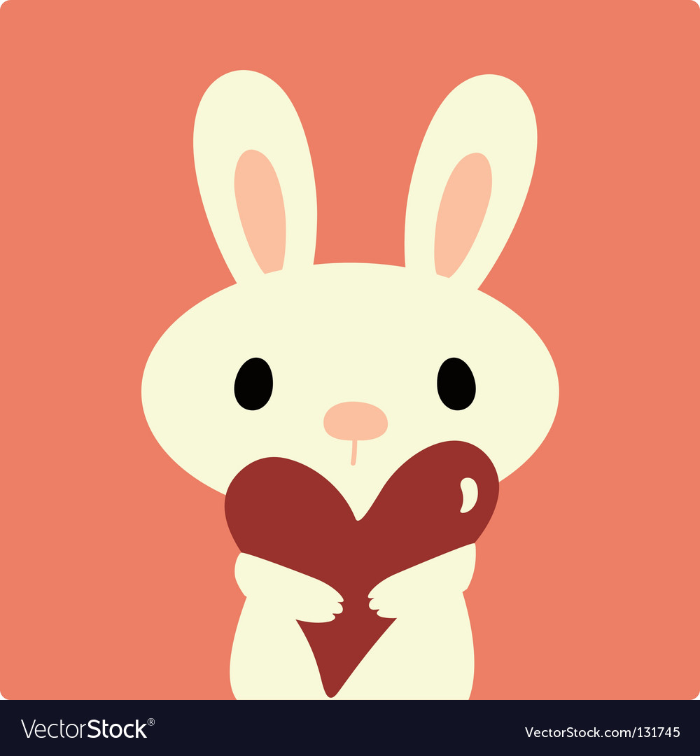 Rabbit with love vector image