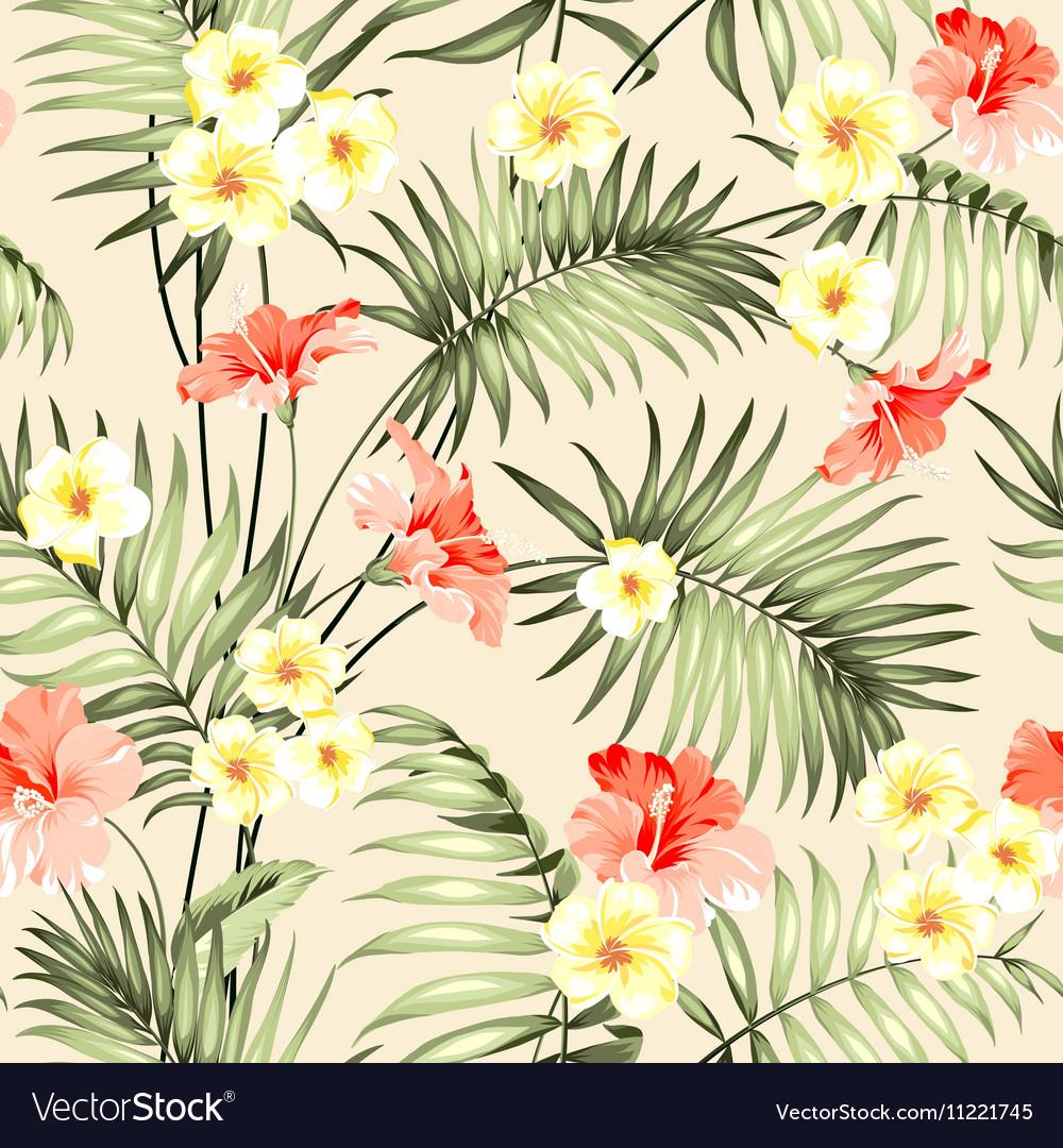 Seamless tropical flower