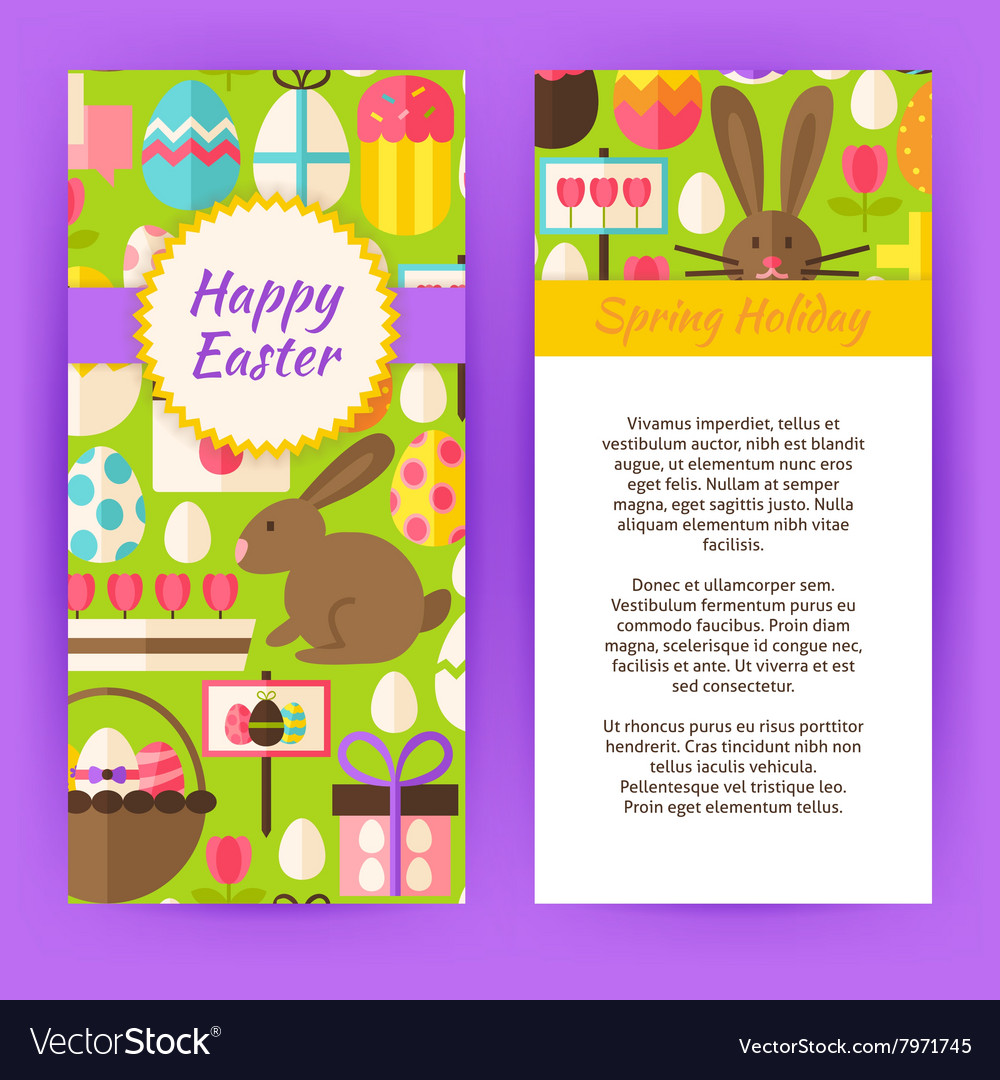 Vertical Flyer Template for Happy Easter