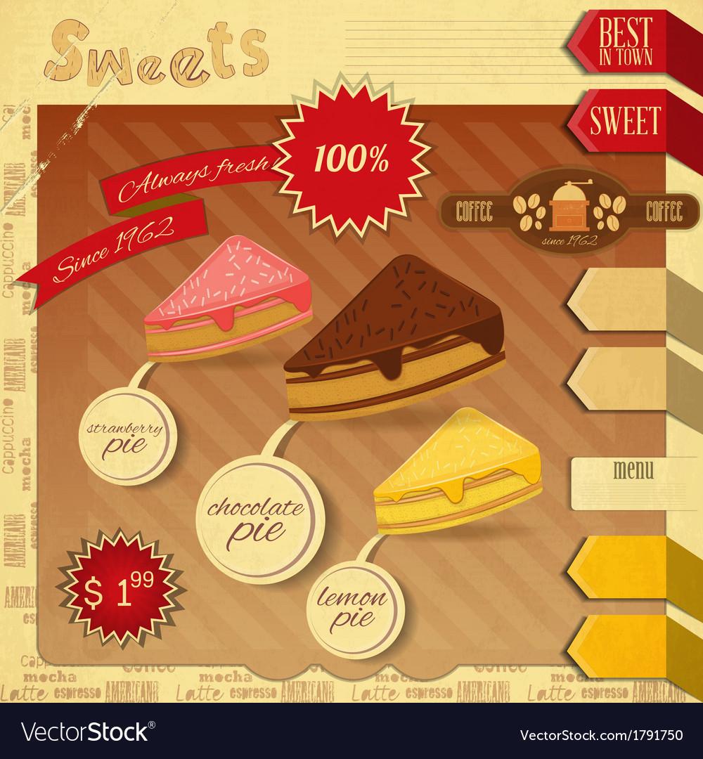 Confectionery Menu Card