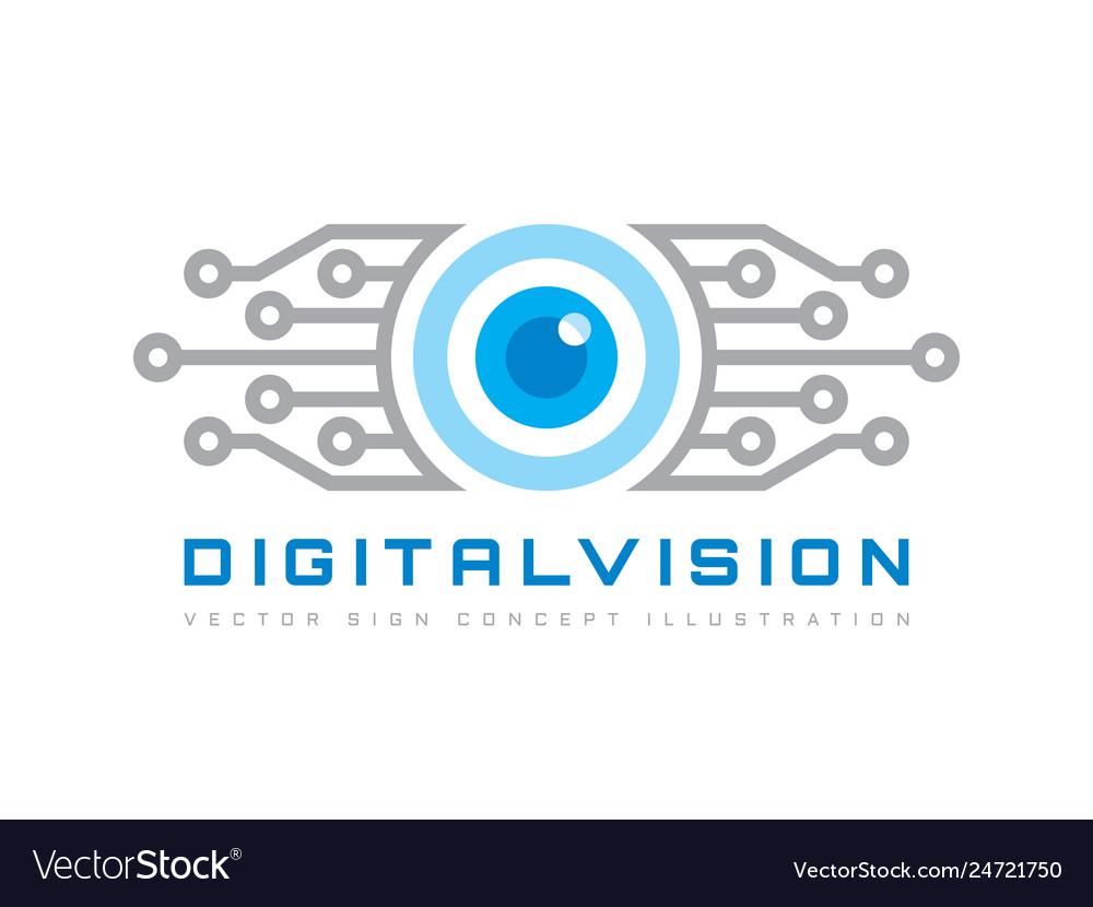 Digital vision - logo template concept