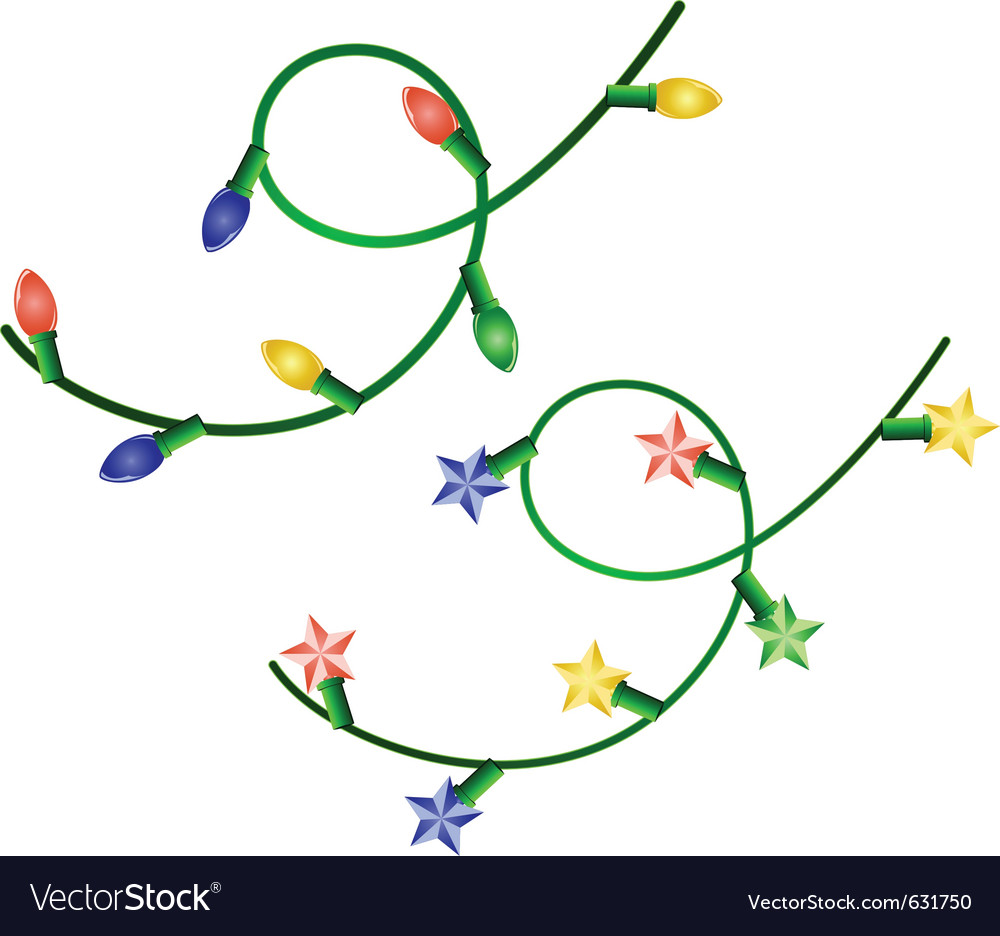 Image of two christmas garlands with different lig