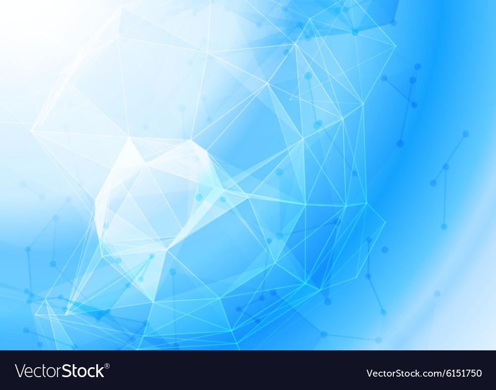 Molecular structure background vector image