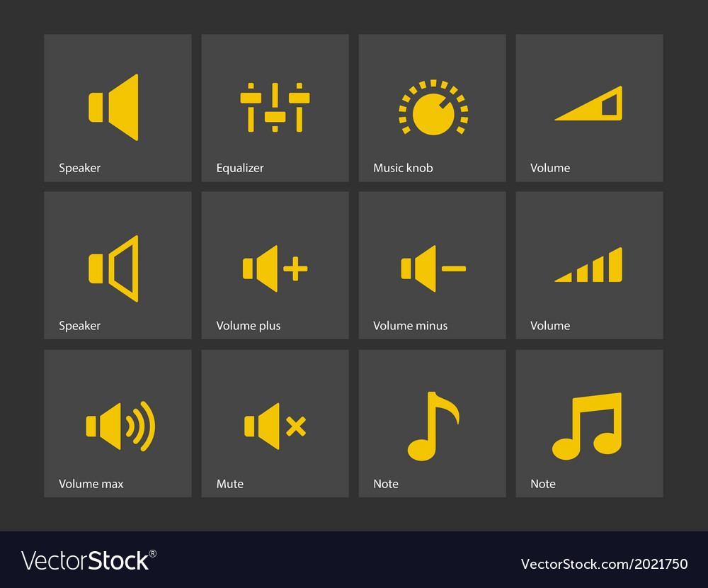 Speaker icons Volume control vector image