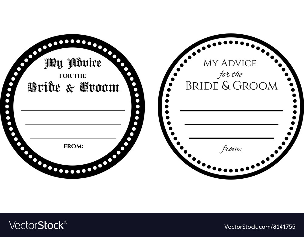 Advice for the bride and groom wedding card