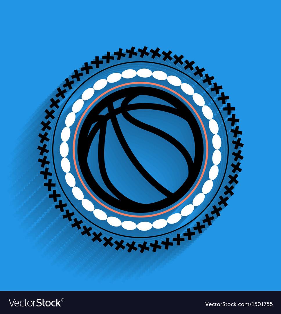 Basketball ball icon flat icon
