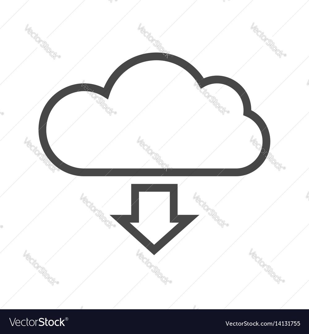 Cloud storage thin line icon