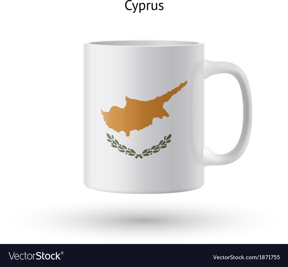 Cyprus Flag Souvenir Mug On White Background