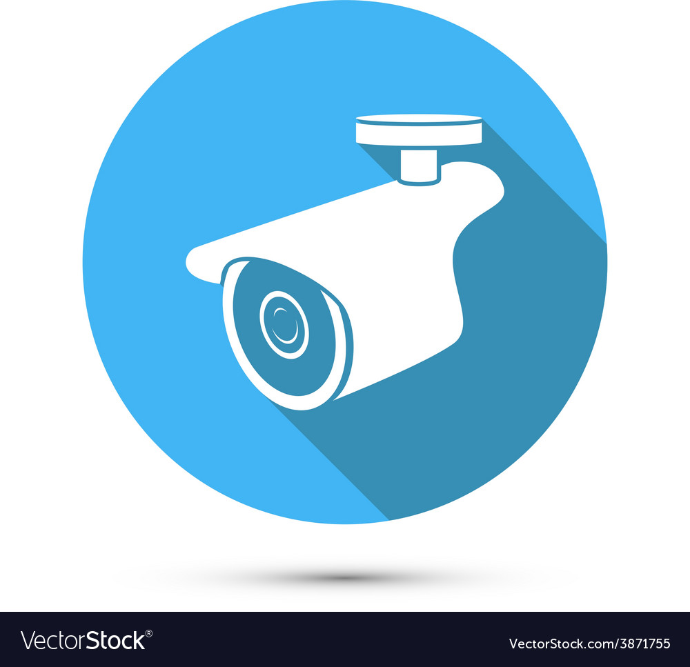 Flat Icon of Security Camera