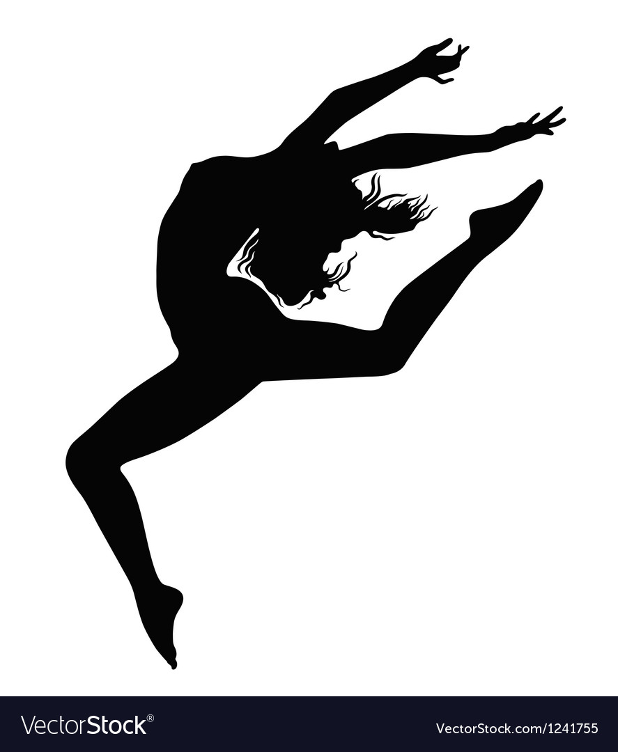 Girl in motion vector image