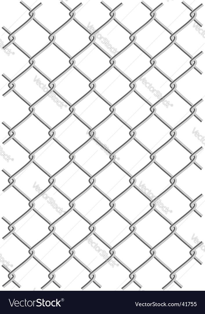 Metal wire net background vector image