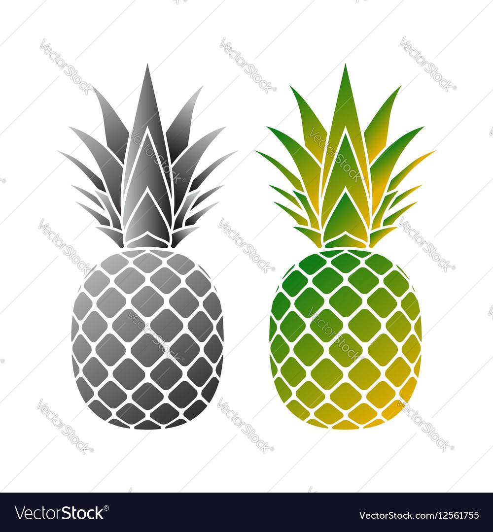Pineapple icons set