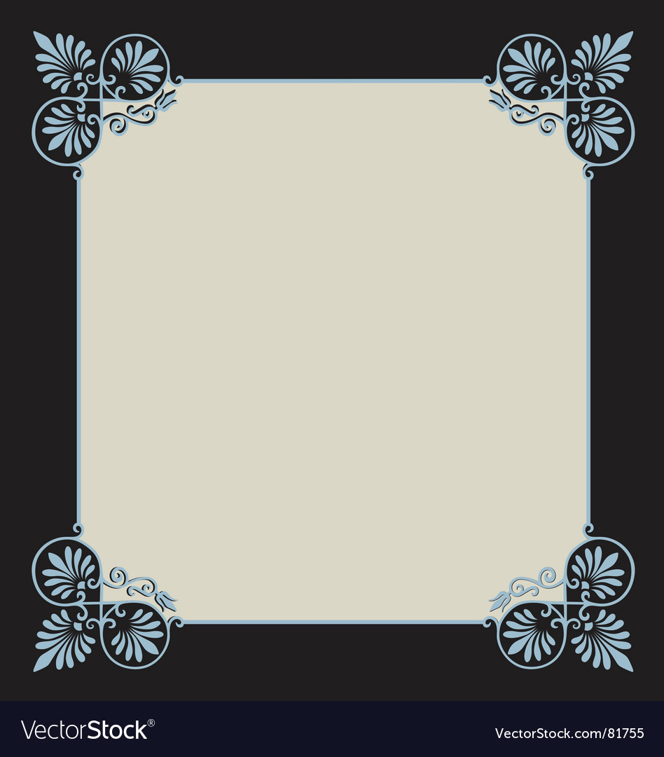 Scrollwork border vector image