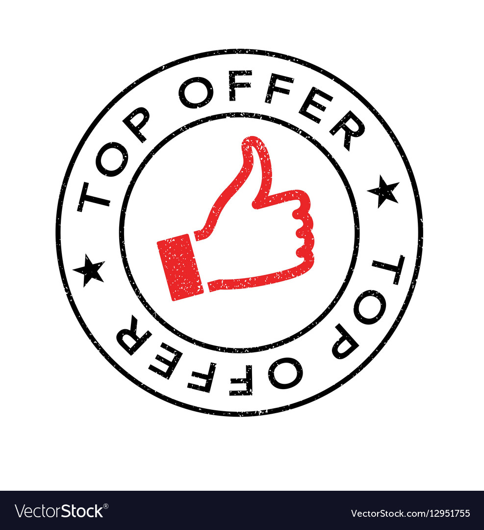 Top Offer rubber stamp