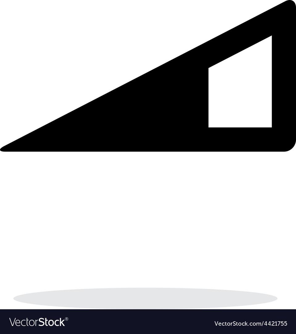 Volume control indicator icon on white background vector image